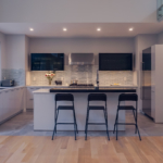 Light Grey Silky Matt Kitchen Cabinet & Design, Sharon MA